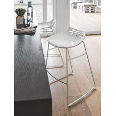 CB1033 Jam - Connubia - Calligaris stool, made of metal and technopolymer, different colours and heights available