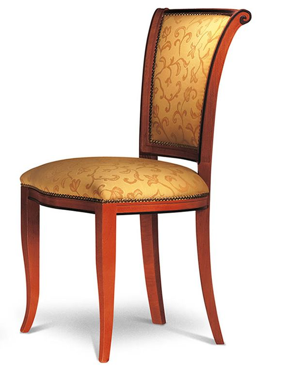 vst133 klassischer gepolsterter holzstuhl verschiedene farben und bez ge sediarreda. Black Bedroom Furniture Sets. Home Design Ideas