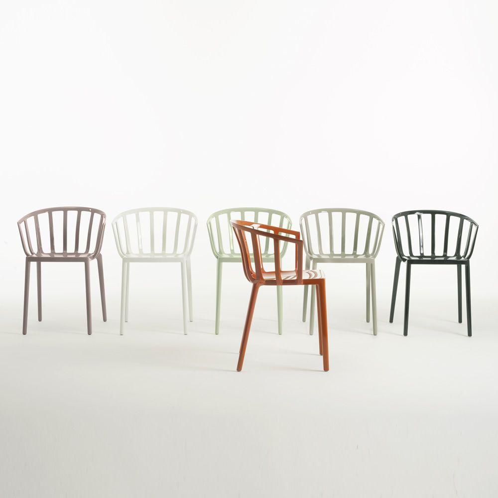 Venice sedia kartell di design in policarbonato impilabile anche per giardino - Sedie di design outlet ...