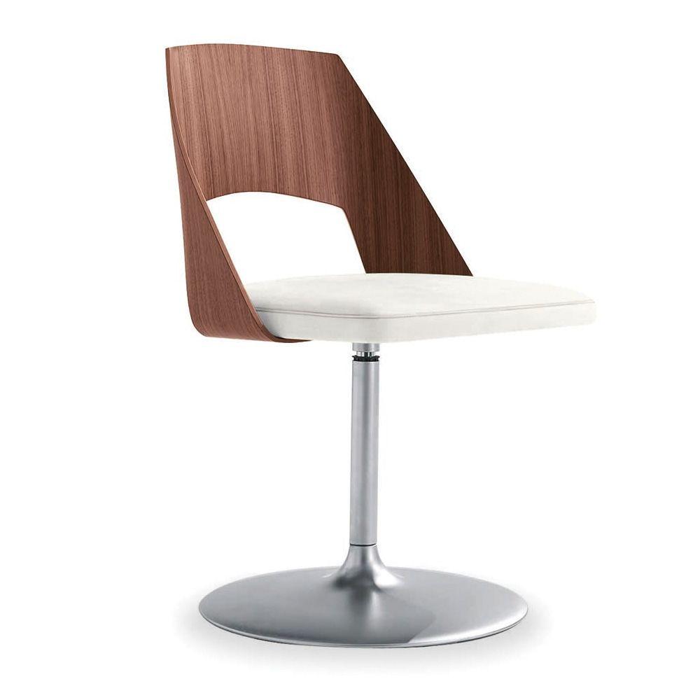 Gamma sedia design di tonon con base centrale in for Sedie struttura acciaio satinato