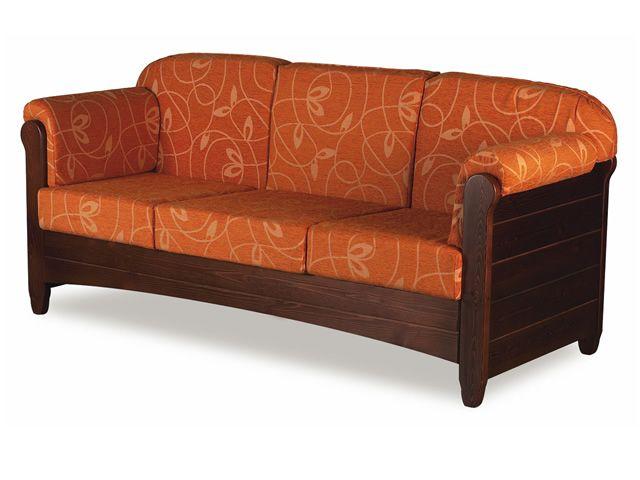 Lar8 divano divano rustico in legno con cuscini in diversi colori sediarreda - Divano rustico 3 posti ...