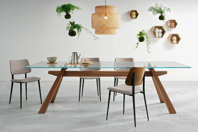 zeus tavolo fisso midj con struttura in legno