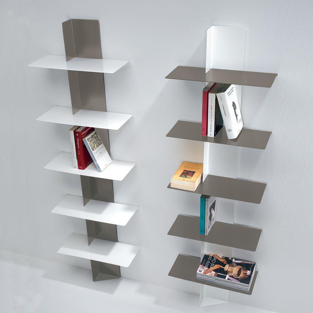 Lift: Wandbücherregal aus lackiertem Metall - Sediarreda