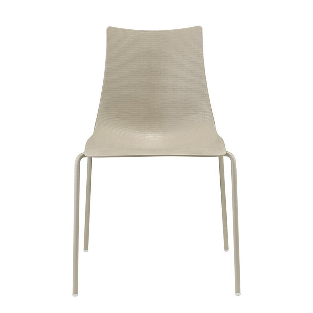bella intrecciata 2695 design metallstuhl mit sitzschale aus technopolymer stapelbar. Black Bedroom Furniture Sets. Home Design Ideas