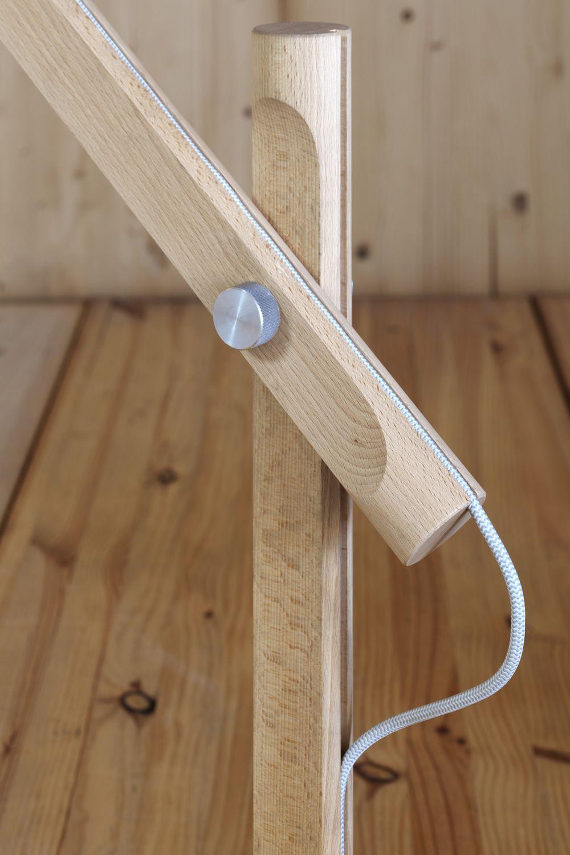Slope t lampada da tavolo miniforms in legno e metallo - Lampada da tavolo legno ...