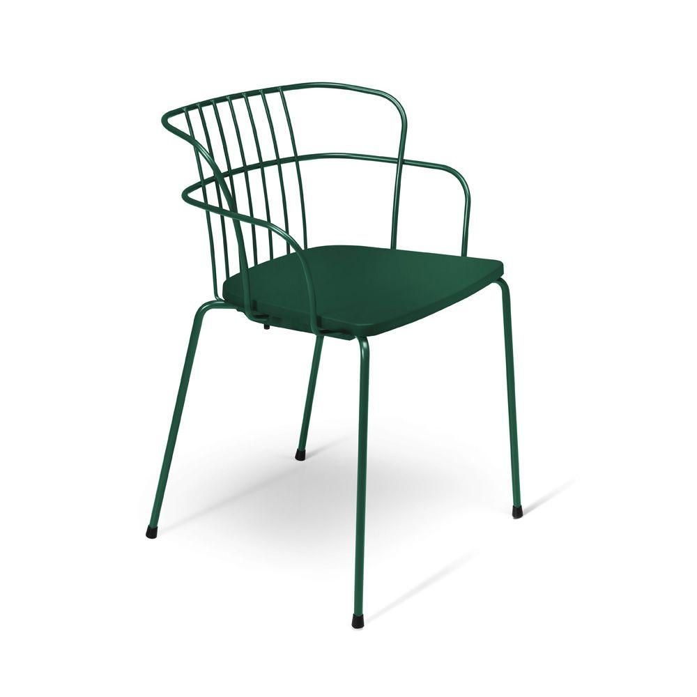 flint chaise design en m tal et polypropyl ne empilable id ale pour le jardin. Black Bedroom Furniture Sets. Home Design Ideas