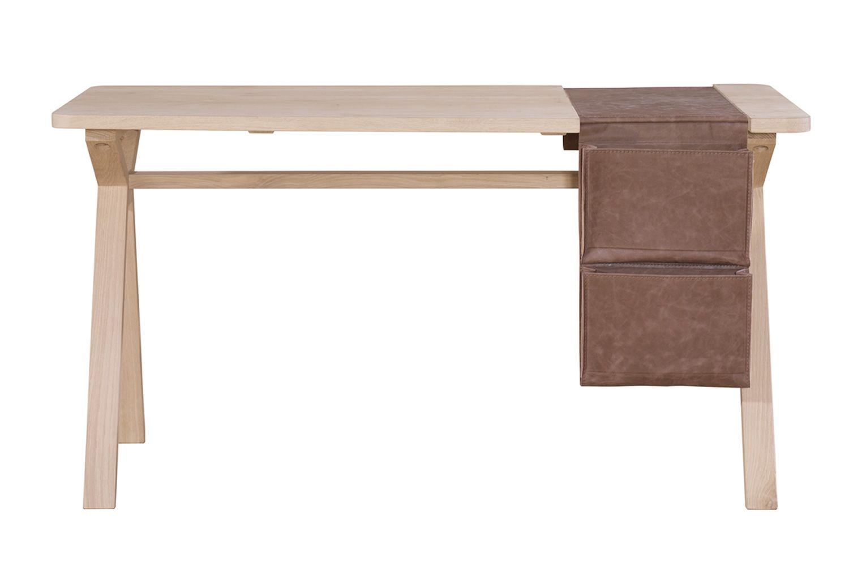 Bolsa designer schreibtisch aus holz mit tasche als for Schreibtisch designer