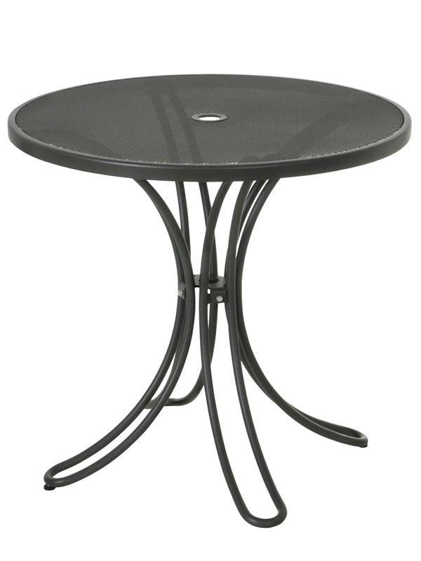Florence r emu table made of metal for garden round top - Table ronde 80 cm ...