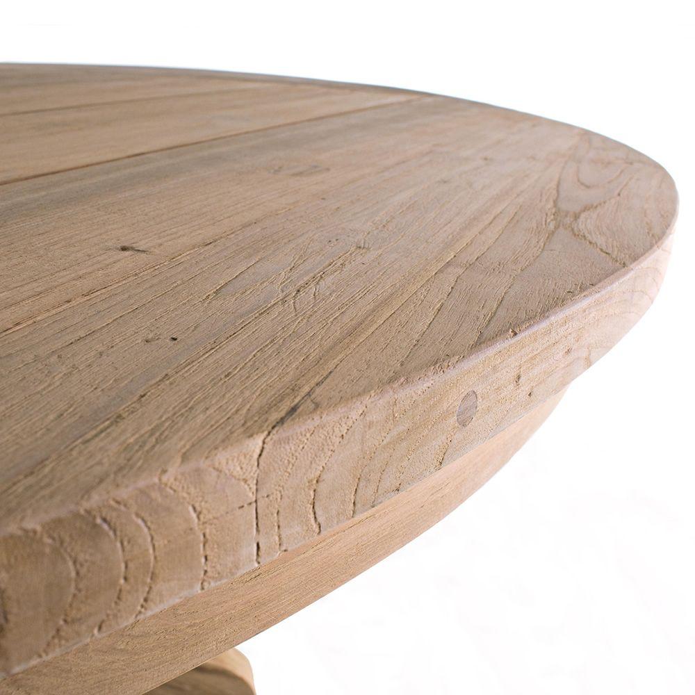 Bali table en teck avec plateau ronde 160cm diam tre - Plateau pour table exterieur ...