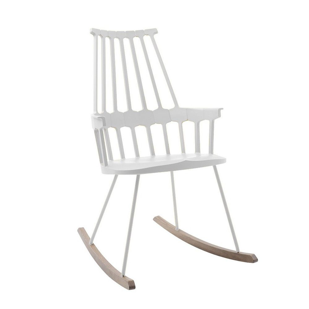 Comback 5956 kartell design rocking chair in wood and - Costruire sedia a dondolo ...