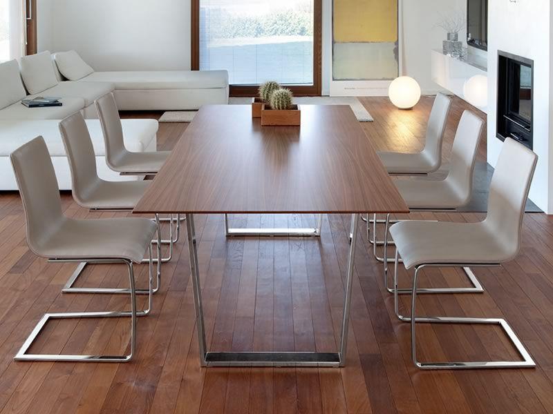 u table tonon design tisch mit metallbeinen und holzplatte 95x180 cm sediarreda. Black Bedroom Furniture Sets. Home Design Ideas