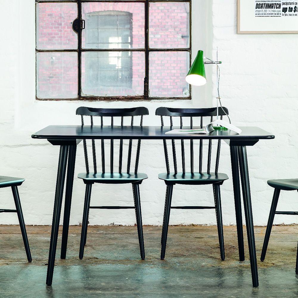 Ironica   Tavolo in legno, con piano in mdf, colore nero