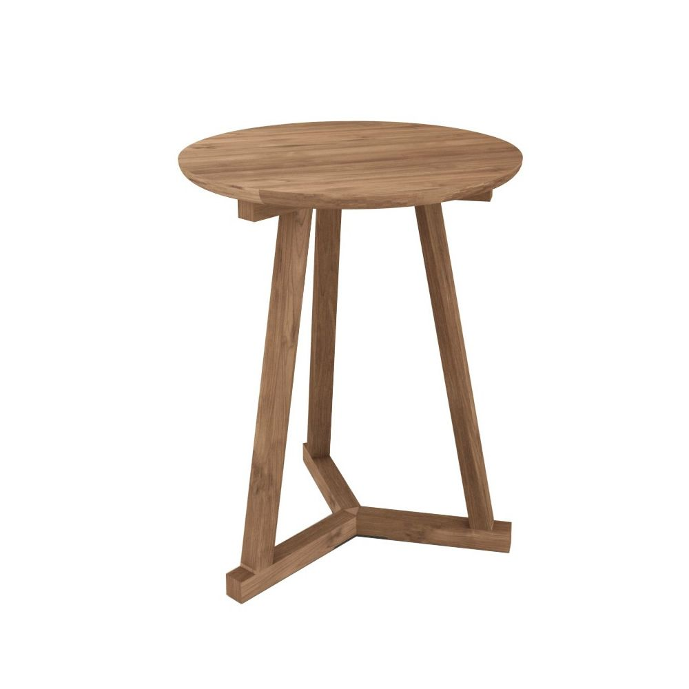 tripod table basse ronde ethnicraft en bois disponible en diff rentes finitions et dimensions. Black Bedroom Furniture Sets. Home Design Ideas