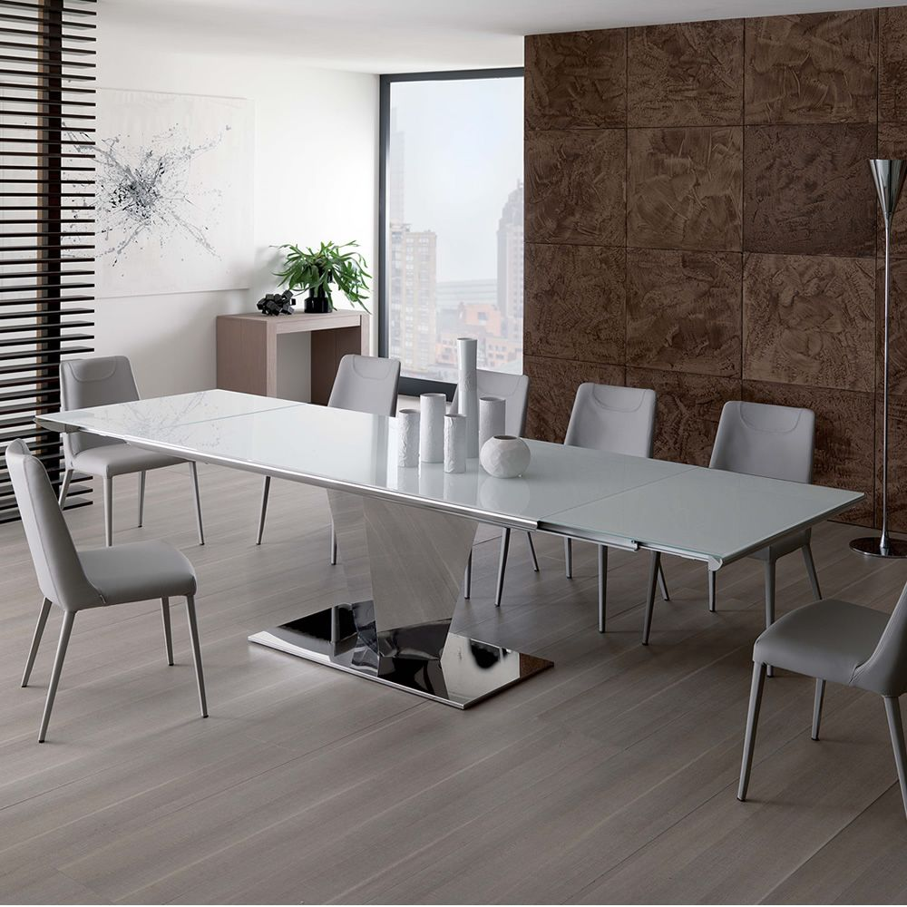Stunning tavolo da soggiorno fisso axon with tavoli for Tavoli bianchi moderni