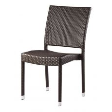 Alfa - Emu chair, made of brown synthetic rattan, for garden