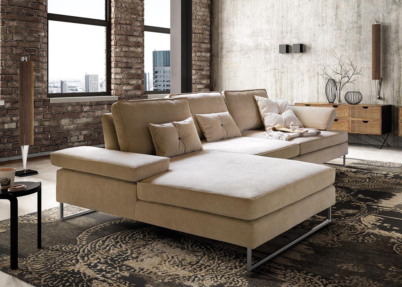 luis 2 3 sitzer sofa mit gleitender r ckenlehne und zur ckklappbarer armlehne ganz. Black Bedroom Furniture Sets. Home Design Ideas