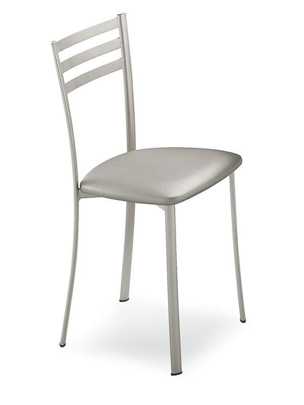 320 sedia in metallo disponibile con diverse sedute for Sedie struttura acciaio satinato