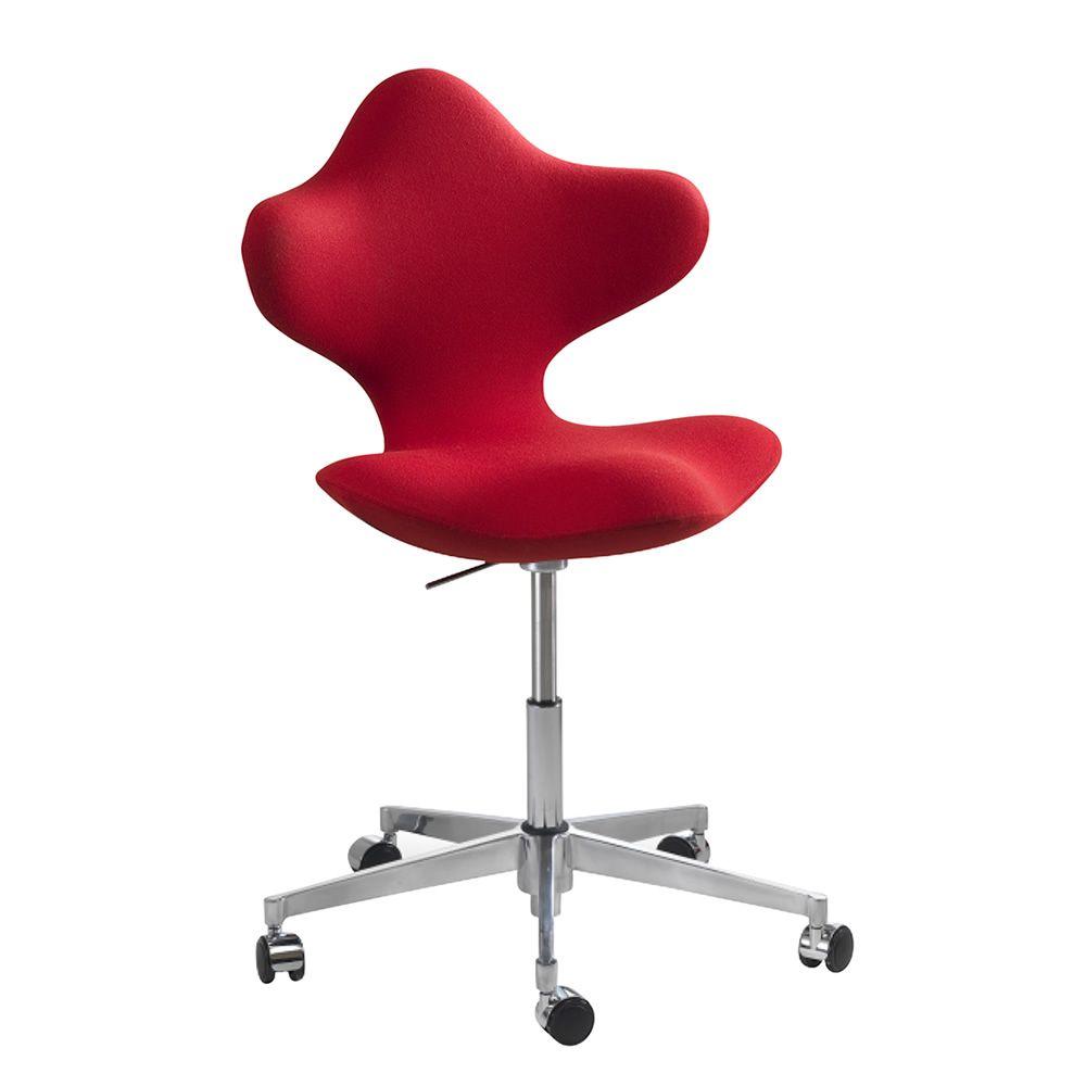 Active stuhl vari r active h henverstellbar mit for Design stuhl rot