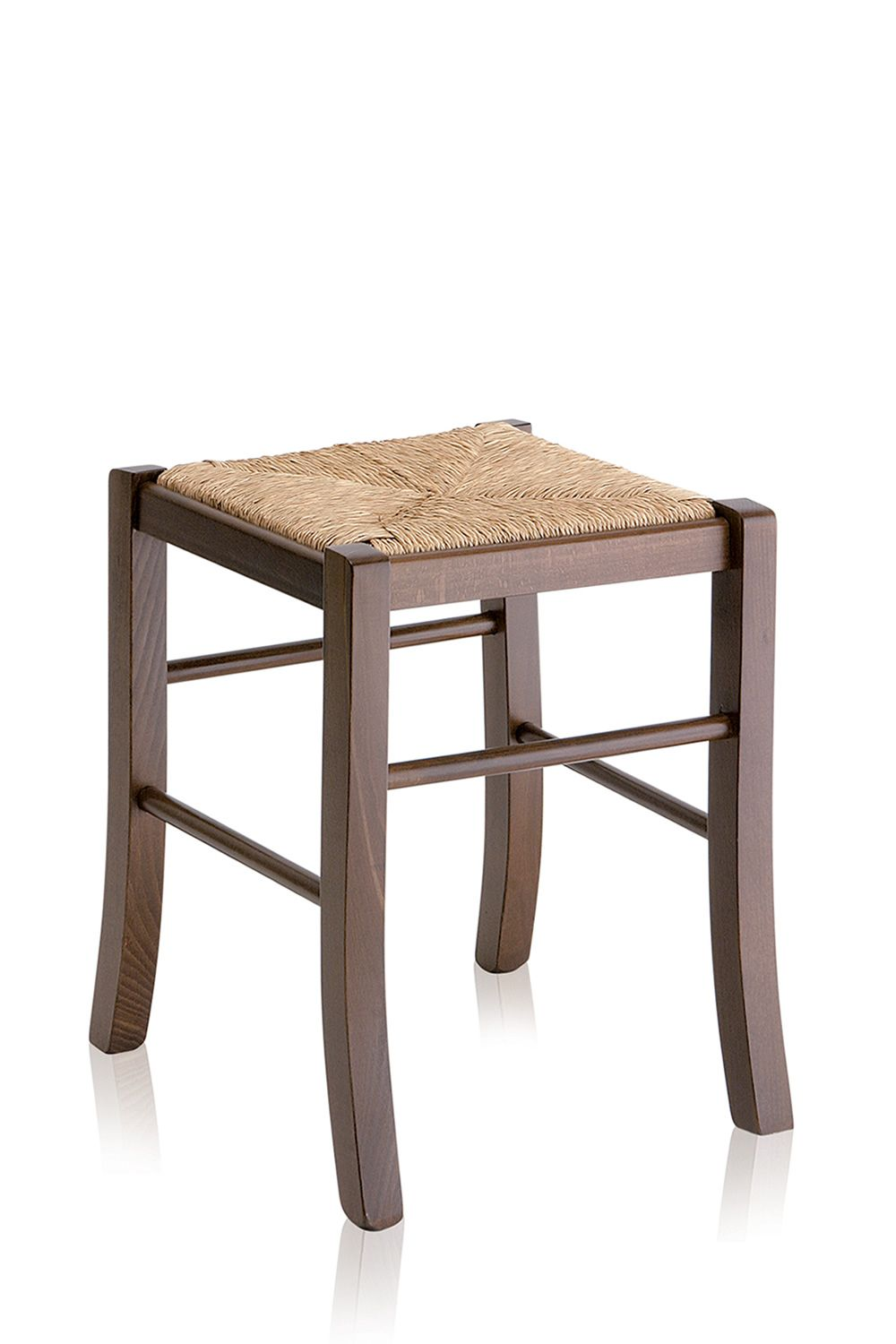 Mu70 Basso Country Style Low Stool In Wood Height 47 Cm
