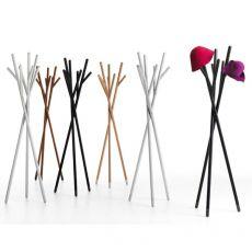 Stick - Appendiabiti di design Valsecchi in legno, diverse finiture disponibili