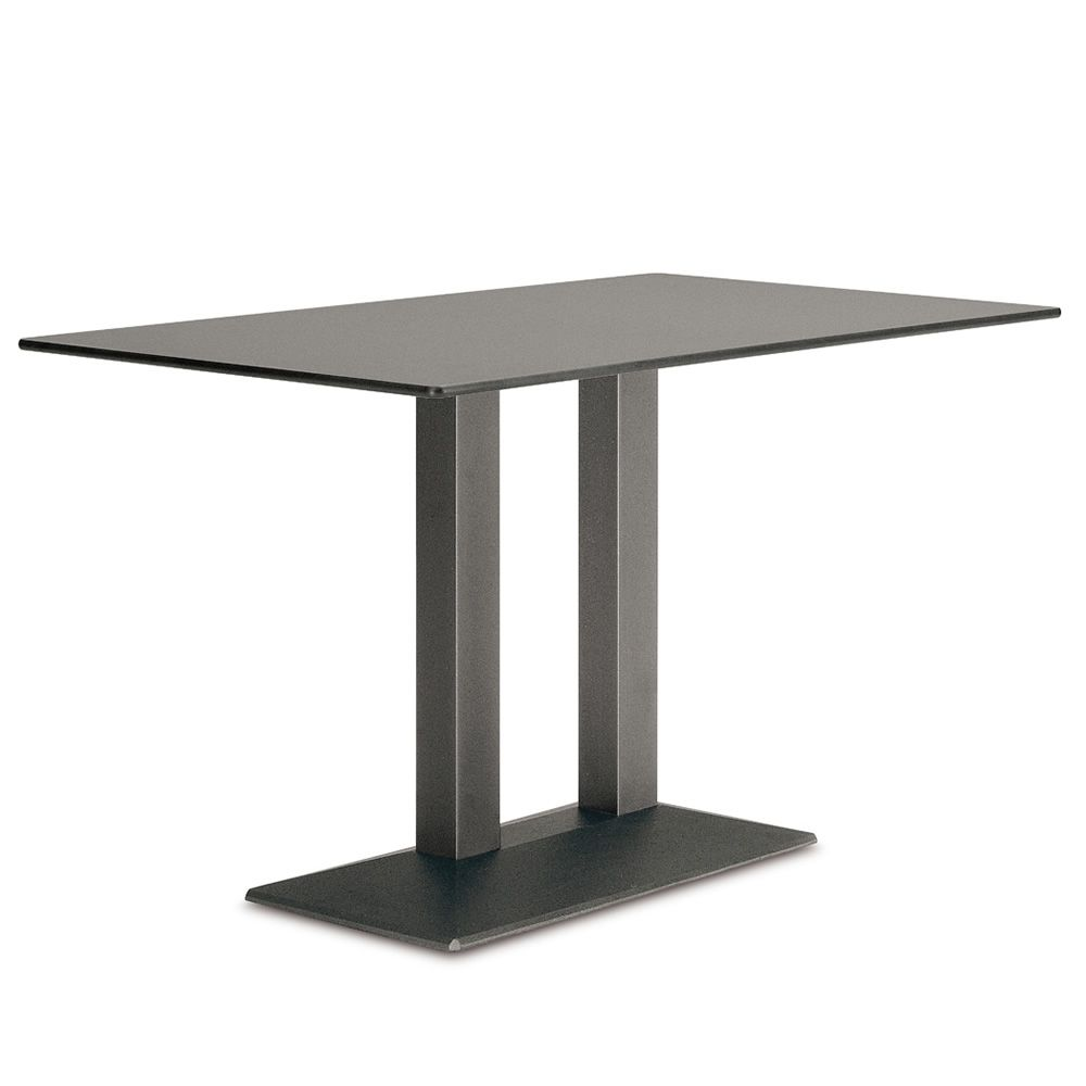 4560 quadra for bars and restaurants table double base for bar or restaurant in metal. Black Bedroom Furniture Sets. Home Design Ideas