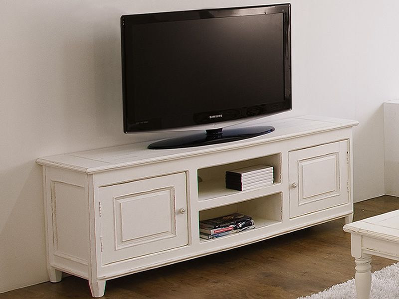 egadi meuble tv en bois 145x45 cm hauteur 60 cm. Black Bedroom Furniture Sets. Home Design Ideas