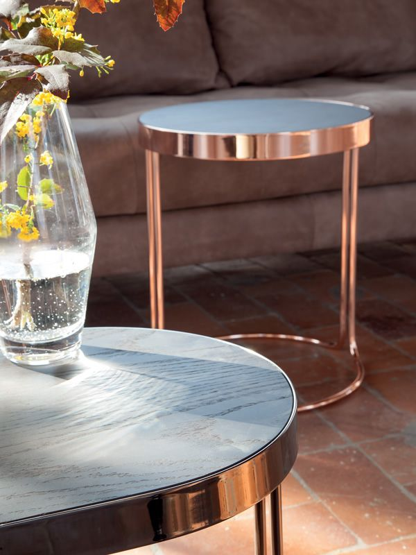 Cora 6035 table basse tonin casa en metal avec plateau en for Piani casa in stile key west