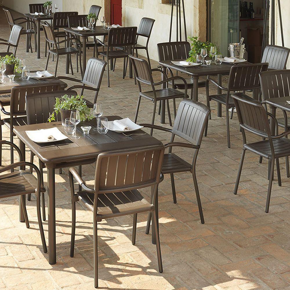 Maestrale 90 per bar e ristoranti tavolo in metallo - Tavoli e sedie da giardino in resina ...