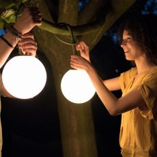 Bolleke - Lampe à suspension Fatboy, en polyéthylène, à LED, sans fil, rechargeable, disponible dans différentes couleurs, utilisable également à l'extérieur