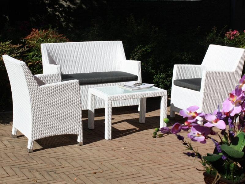 Kit esterno 04 salon de jardin en aluminium et simili rotin avec canap 2 - Salon de jardin fin de serie ...