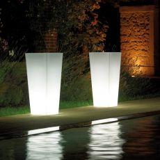 Mimosa Light - Fioriera per giardino con luce integrata, diverse misure