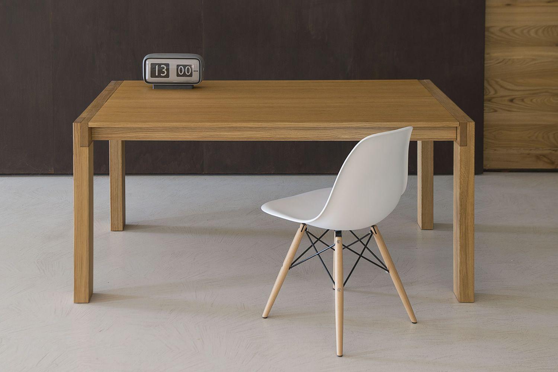 Tavolo 03 mesa extensible en madera de roble 160x90 cms sediarreda - Mesa extensible de madera ...