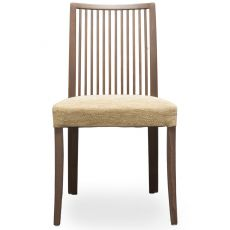 Forma Stick - Tonon modern chair, wooden frame and upholstered seat