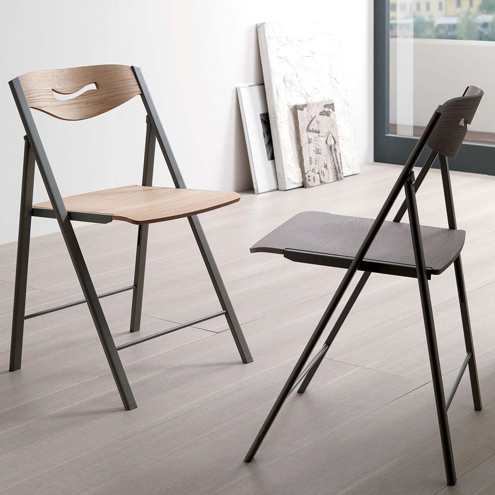 Ripiego w silla plegable moderna de metal y madera for Oferta sillas plegables
