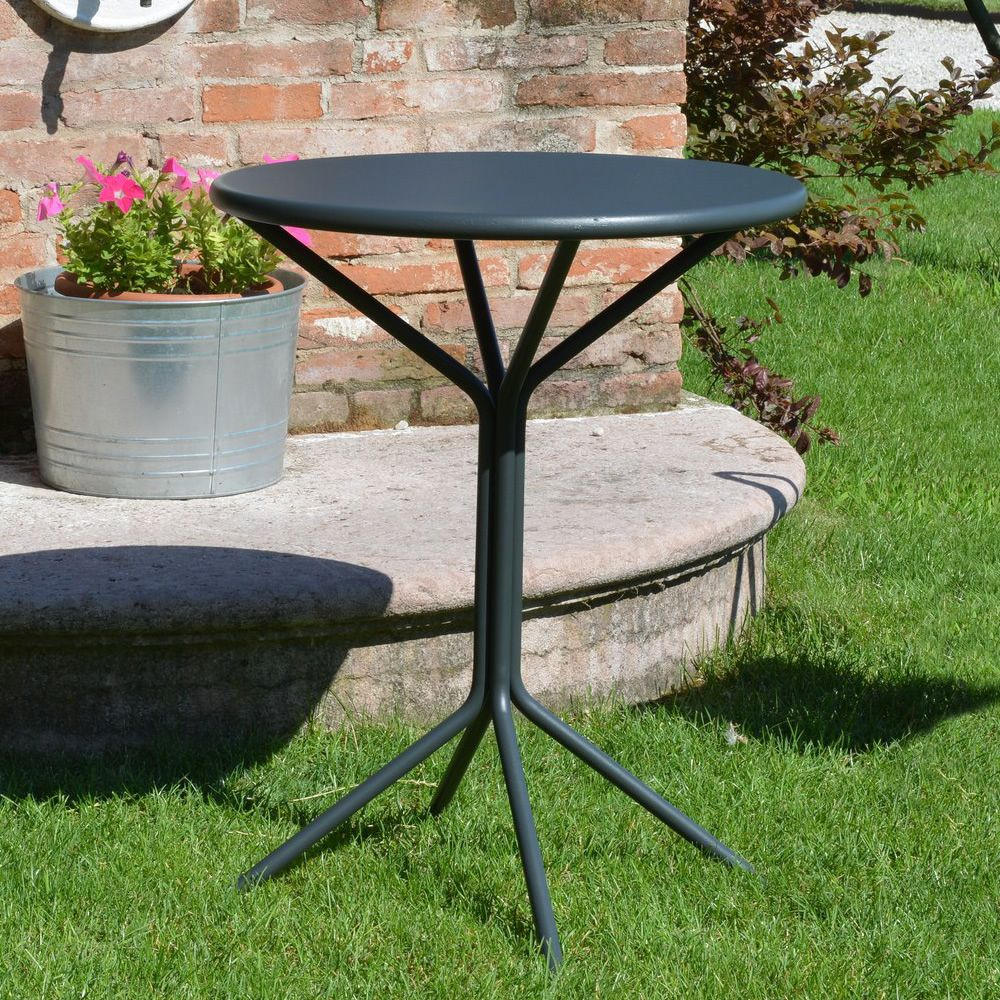 RIG83 - Table ronde en métal, diamètre 60 cm, pour le jardin ...