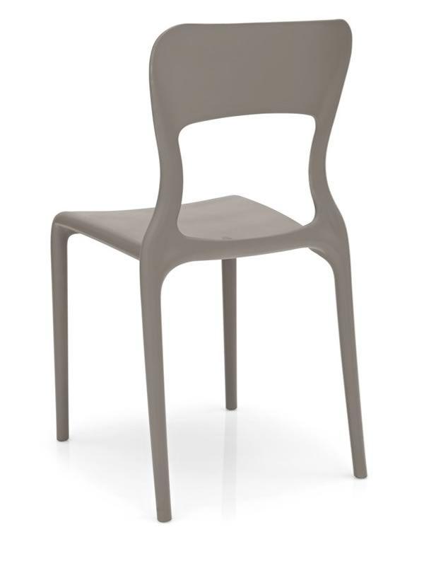 cb1312 helios chaise empilable connubia calligaris en polypropyl ne pour ext rieur sediarreda. Black Bedroom Furniture Sets. Home Design Ideas