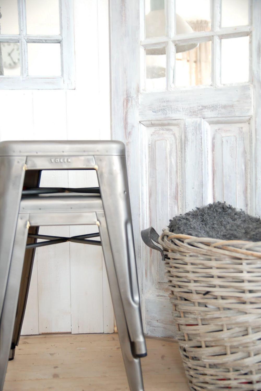 h 45 designer hocker aus lackiertem metall stapelbar 45. Black Bedroom Furniture Sets. Home Design Ideas