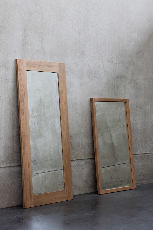 BF: Espejo Ethnicraft con marco de madera, en distintos acabados ...