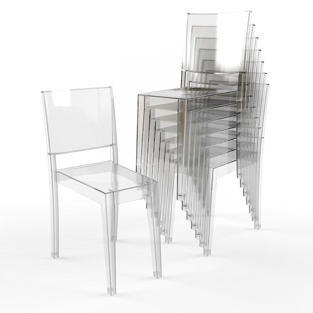 La marie kartell design stapelstuhl transparentes for Stapelstuhl design
