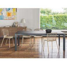 CB4010 160 Baron - Table Connubia - Calligaris en métal, différentes plateaux disponibles, 160 x 85 cm  à rallonge
