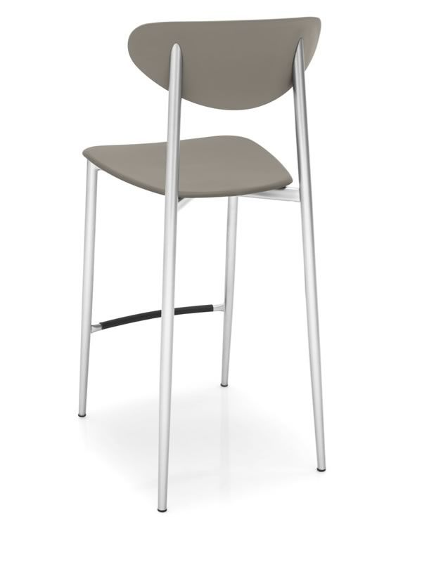cb1437 graffiti hocker connubia calligaris aus metall und polypropylen sitzh he 65 cm. Black Bedroom Furniture Sets. Home Design Ideas