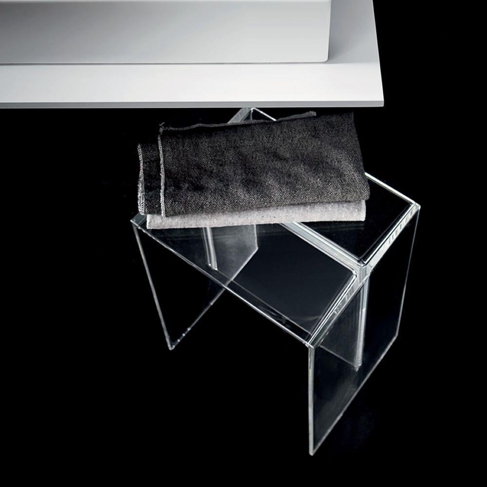 Max-Beam | Badezimmerhocker aus transparentem Technopolymer