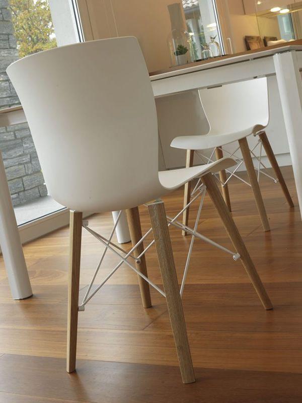 Rap wood sedia colico in legno e polipropilene diversi for Sedie di design in legno