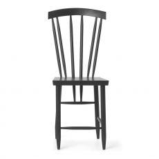 Family No.3 - Stuhl aus lackiertem Bucheholz in Weiss oder Schwarz, hohe Rückenlehne