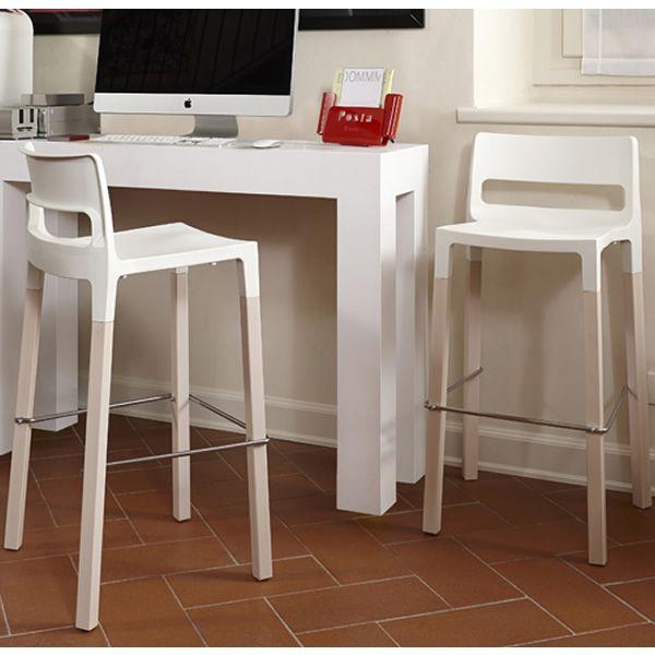 Natural divo 2818 sgabello di design in legno e for Sgabelli design offerta