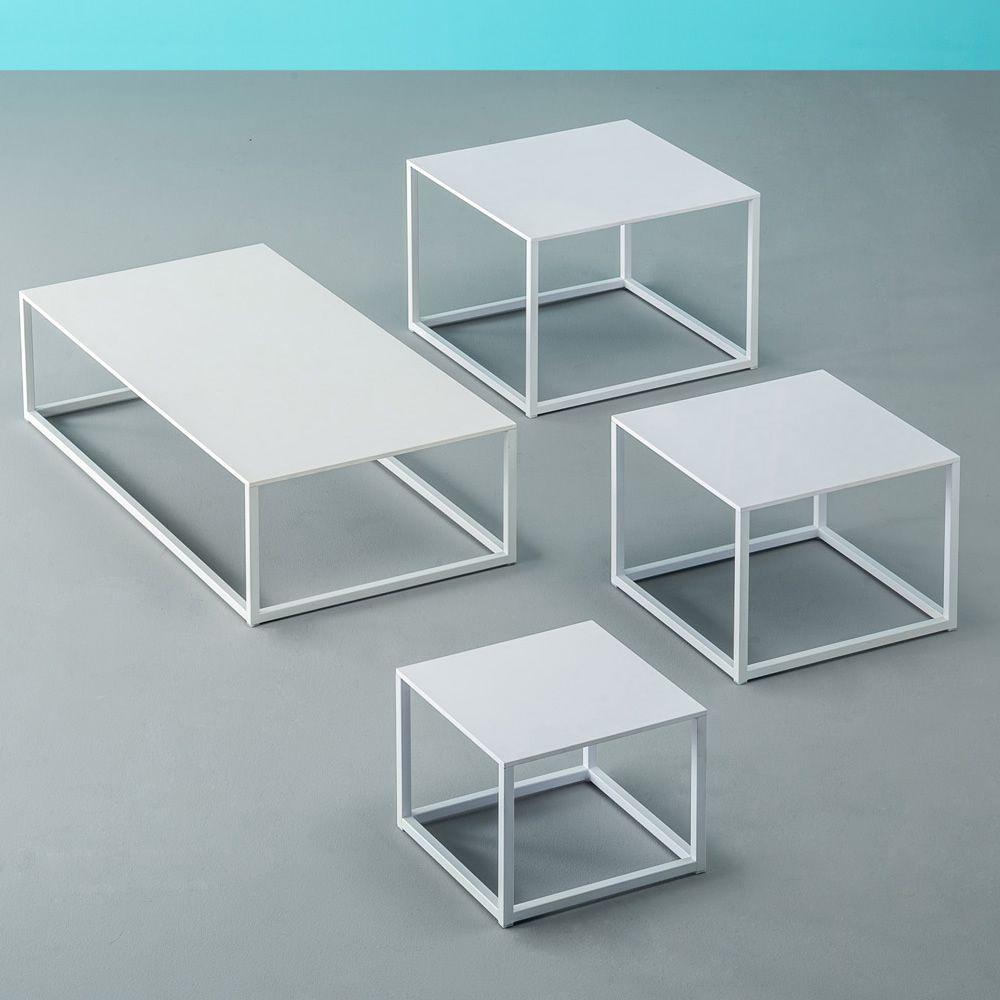 code designer beistelltisch pedrali aus metall mit laminatplatte in verschiedenen gr en und. Black Bedroom Furniture Sets. Home Design Ideas