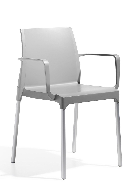 chlo p 2637 chaise moderne avec accoudoirs en aluminium et technopolym re empilable. Black Bedroom Furniture Sets. Home Design Ideas