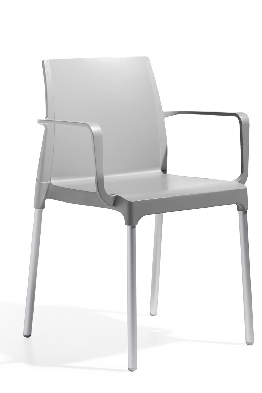 Chlo p 2637 chaise moderne avec accoudoirs en aluminium - Chaise confortable avec accoudoirs ...