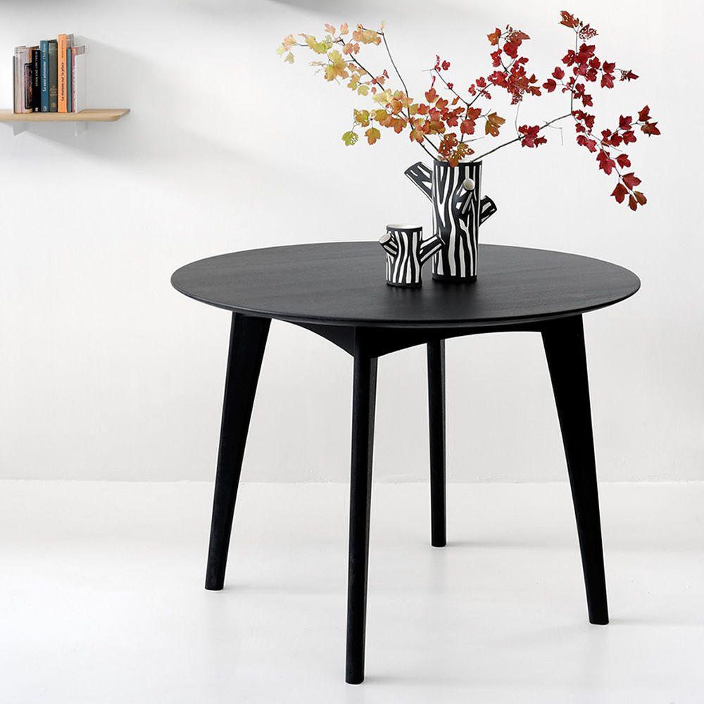 Osso r tavolo fisso ethnicraft in legno diverse for Tavolo rotondo nero