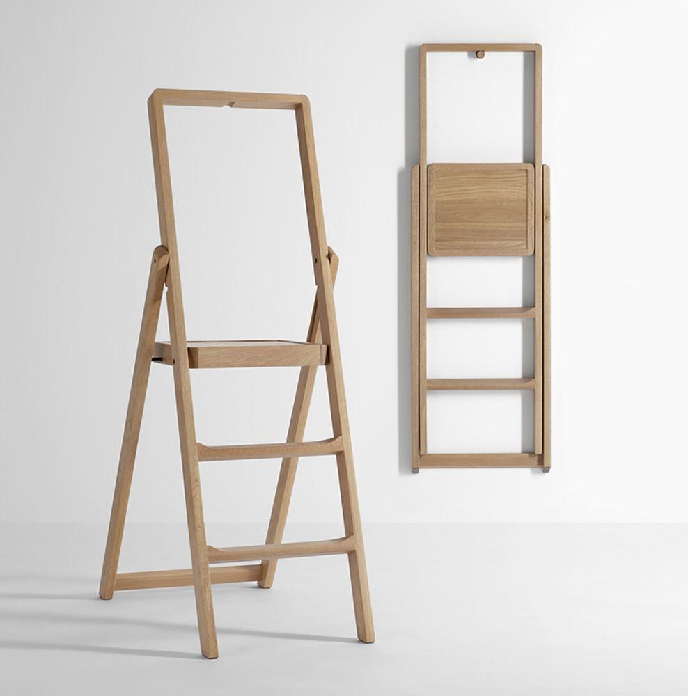 step: escabeau à 3 marches en bois, disponible dans différentes